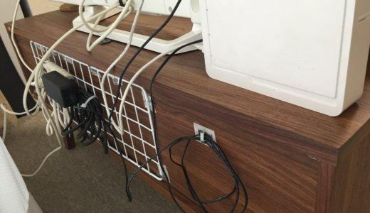 テレビの配線をスッキリさせたい! ワイヤーラックで簡単DIY。猫がTV裏に行っても安心。