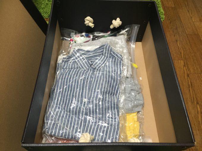 衣装ケース以外 衣替え 収納 圧縮