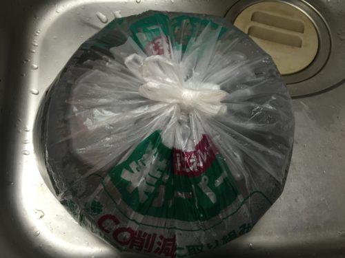 セスキ炭酸ソーダ 掃除 五徳 浸け置き ビニール袋