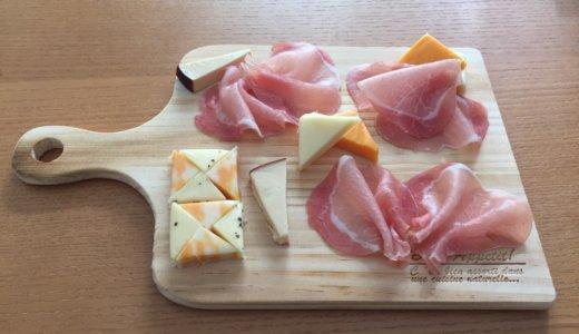 【3coins】木製カッティングボードがプチプラなのにオシャレすぎ! 前菜やデザートでおうちカフェ楽しもう。