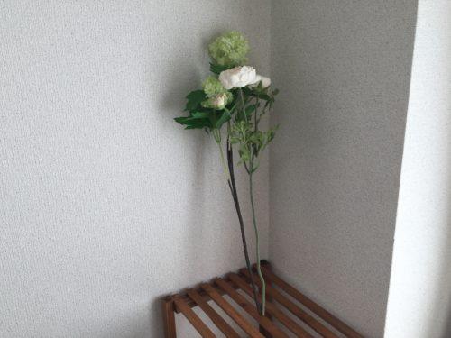 ラナンキュラス IKEA フェイクグリーン 造花 インテリア アレンジ 花瓶 スノーボール