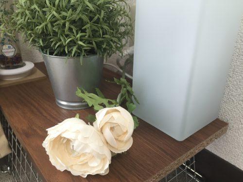 IKEA フェイクグリーン ローズマリー インテリア アレンジ コンセント隠し