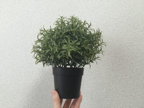 IKEA フェイクグリーン ローズマリー インテリア アレンジ