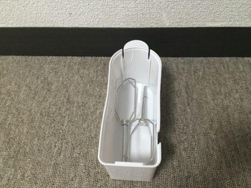 ドリテック ハンドミキサー スピード5段階切替 / 電源コード、ビーターが収納できるケース付き ホワイト HM-703WT