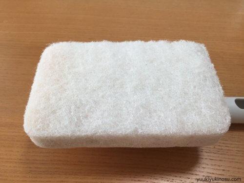 無印 お風呂掃除スポンジ 柄付き 掃除用品システム 替えスポンジ へたれ 黄ばみ 汚れ 使用後