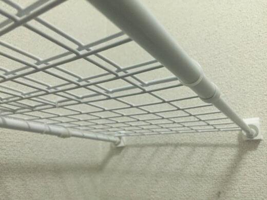 突っ張り棒が落ちない君 突っ張り棒 棚 落ちない 100均 DIY  パントリー収納 自作 ワイヤワイヤーネット