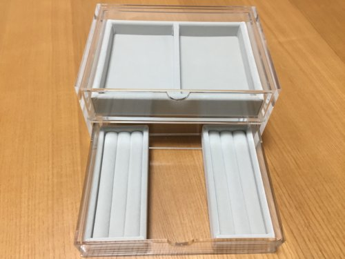 無印良品 アクセサリー ボックス 収納 アクリル 2段引き出し ベロア
