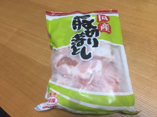業務スーパー 国産 豚切り落とし 豚コマ 冷凍肉