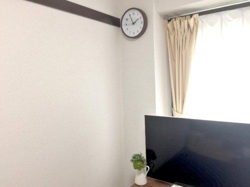ニトリ 壁掛け時計 スマート2 ダークブラウン 925円 安い おしゃれ