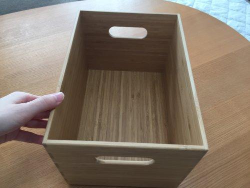 無印 重なる竹材 長方形ボックス ハーフ 中 メイクボックス アレンジ 収納