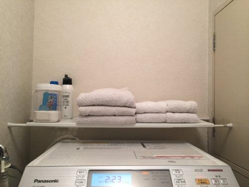 洗面所 100均 ダイソー 突っ張り棒 棚 DIY  突っ張り棒専用棚
