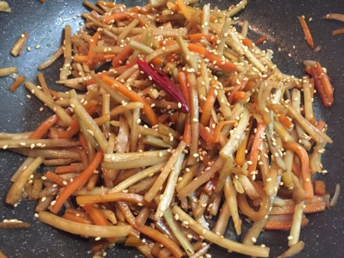 業務スーパー 冷凍野菜 ごぼうにんじんミックス 活用 アレンジレシピ キンピラごぼう