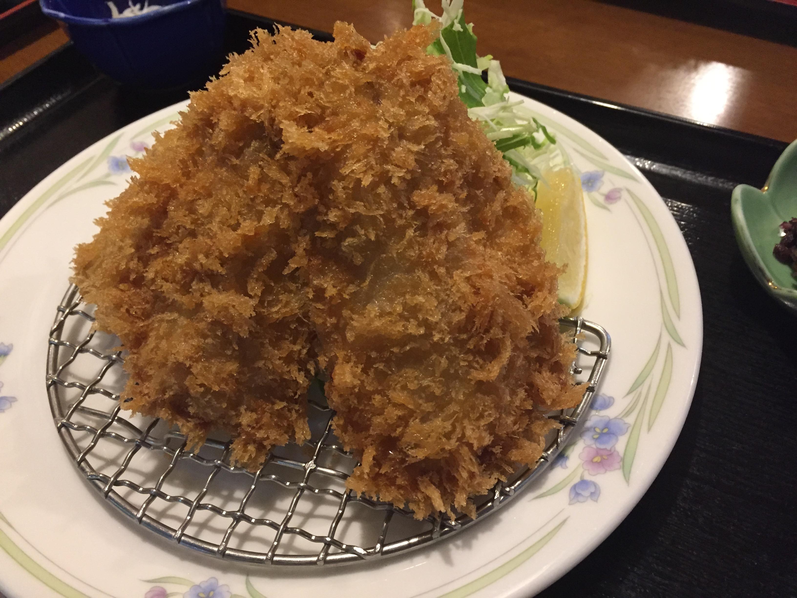 小田原 アジフライ お食事処 大原 早川漁港 ランチ アジフライ定食 人気店