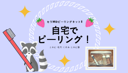 【写真あり】自宅ピーリング「セラMDピーリングキットⅡ」でニキビ・跡・くすみが消えた!
