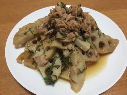 業務スーパー 冷凍野菜 れんこんスライス ツナ缶 ライトツナフレーク アレンジレシピ