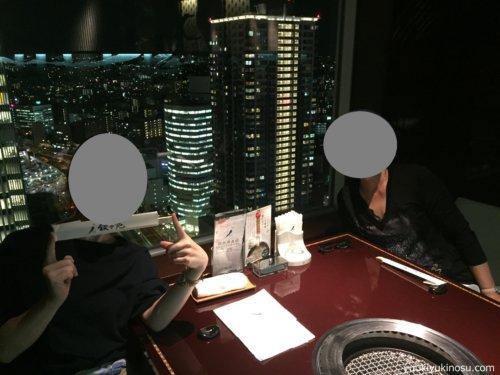 叙々苑 焼肉 横浜 スカイビル 景色 夜景 うまい メニュー 値段 予約駐車場 席 28階 感想 夜景