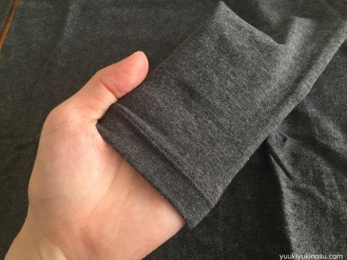 無印良品 綿であったかインナー Uネック 八分袖 990円 ヒートテック 天然素材 乾燥しない 静電気 オーガニックコットン サイズ感 袖