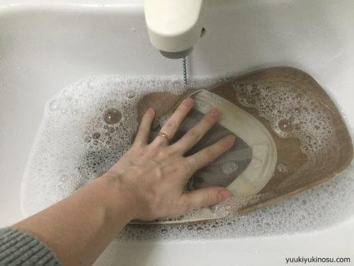 帽子 キャップ ファンデーション 汗 汚れ 落とし方 洗い方 内側 おでこ 白 手洗い 押し洗い 洗剤 台所用 おしゃれ着