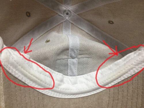 帽子 キャップ ファンデーション 汗 汚れ 落とし方 洗い方 内側 おでこ 白 手洗い 押し洗い 洗濯機 洗剤 石鹸 メイククレンジング 干し方 型崩れ 防止