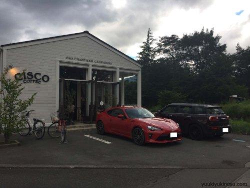 CISCO COFFEE シスココーヒー カフェ 河口湖 富士山 観光 おすすめ カフェ コーヒーショップ おしゃれ ドライブ 駐車場