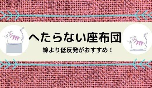 【へたらない座布団】低反発なら長持ち。来客用にも普段使いにもOK!