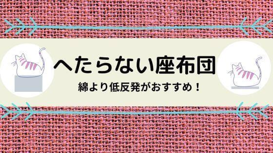 へたらない 座布団 ニトリ 無印 低反発 綿 洗える カバー 来客用 洗濯