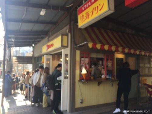 熱海 ドライブ 日帰り コース 来宮神社 蕎麦 ランチ 温泉 食べ歩き いちごボンボンベリー 商店街 おすすめ 熱海プリン