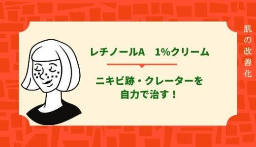 【レチノールa1%】ニキビ跡・クレーターを自力で治す!