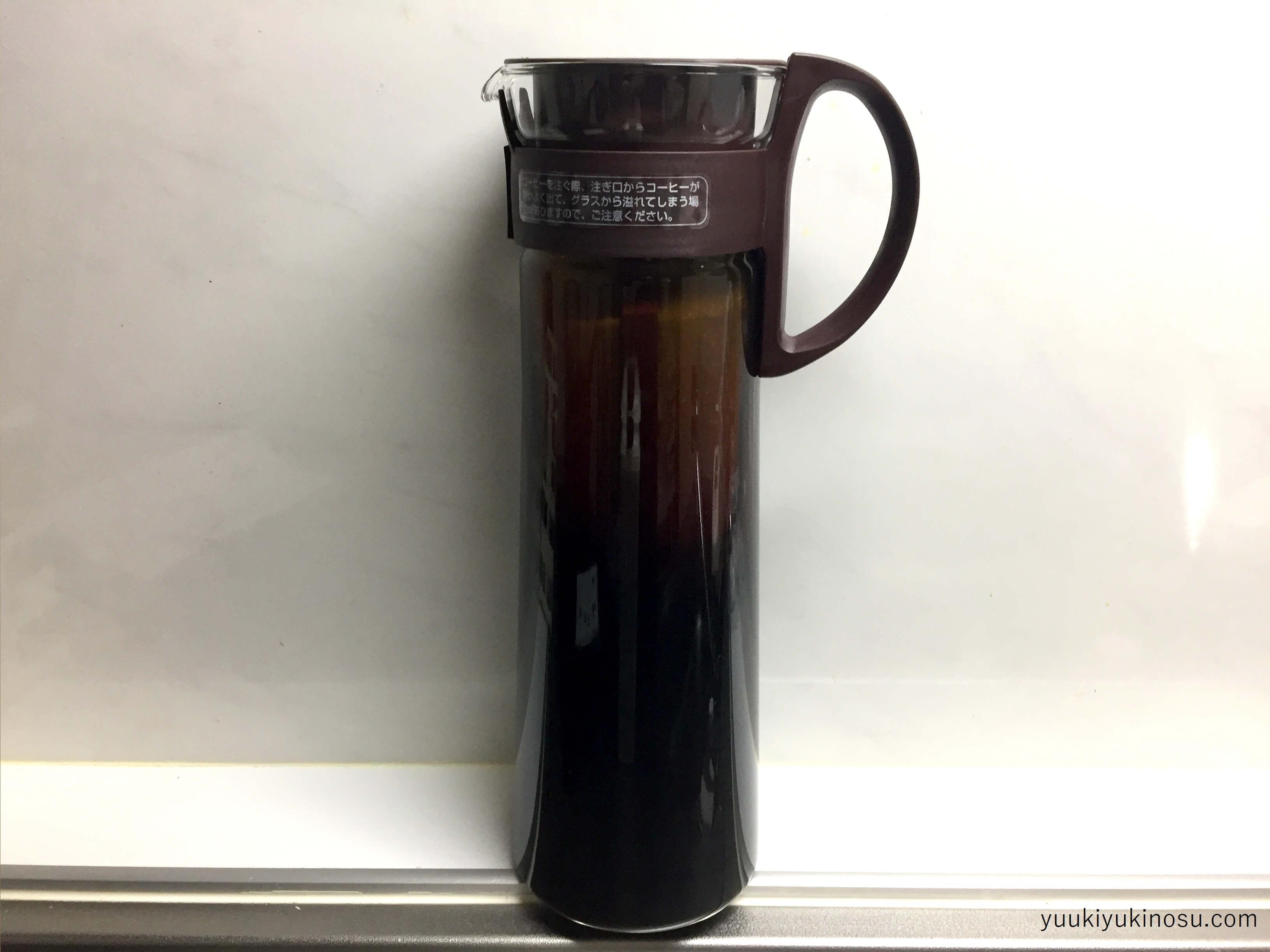 業務スーパー アイスコーヒーブレンド(粉) 水出しコーヒー 価格 味 感想 口コミ ハリオ 淹れ方 8杯用 ショコラブラウン 水出し珈琲ボトル