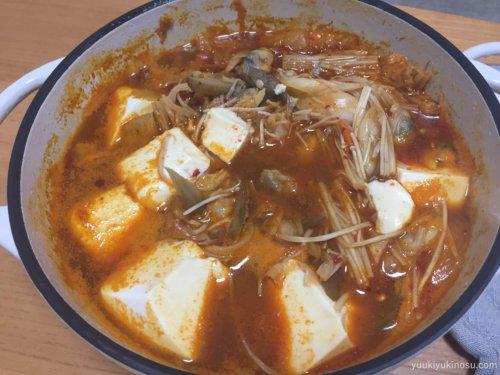 バーミキュラ レシピ 18cm 無水鍋 炒め物 キムチ スンドゥブチゲ