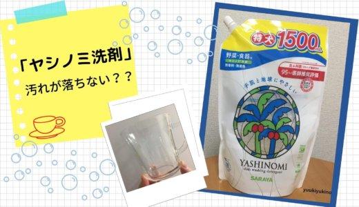 【ヤシノミ洗剤】食器の汚れが落ちない!手荒れには良いけど…残念