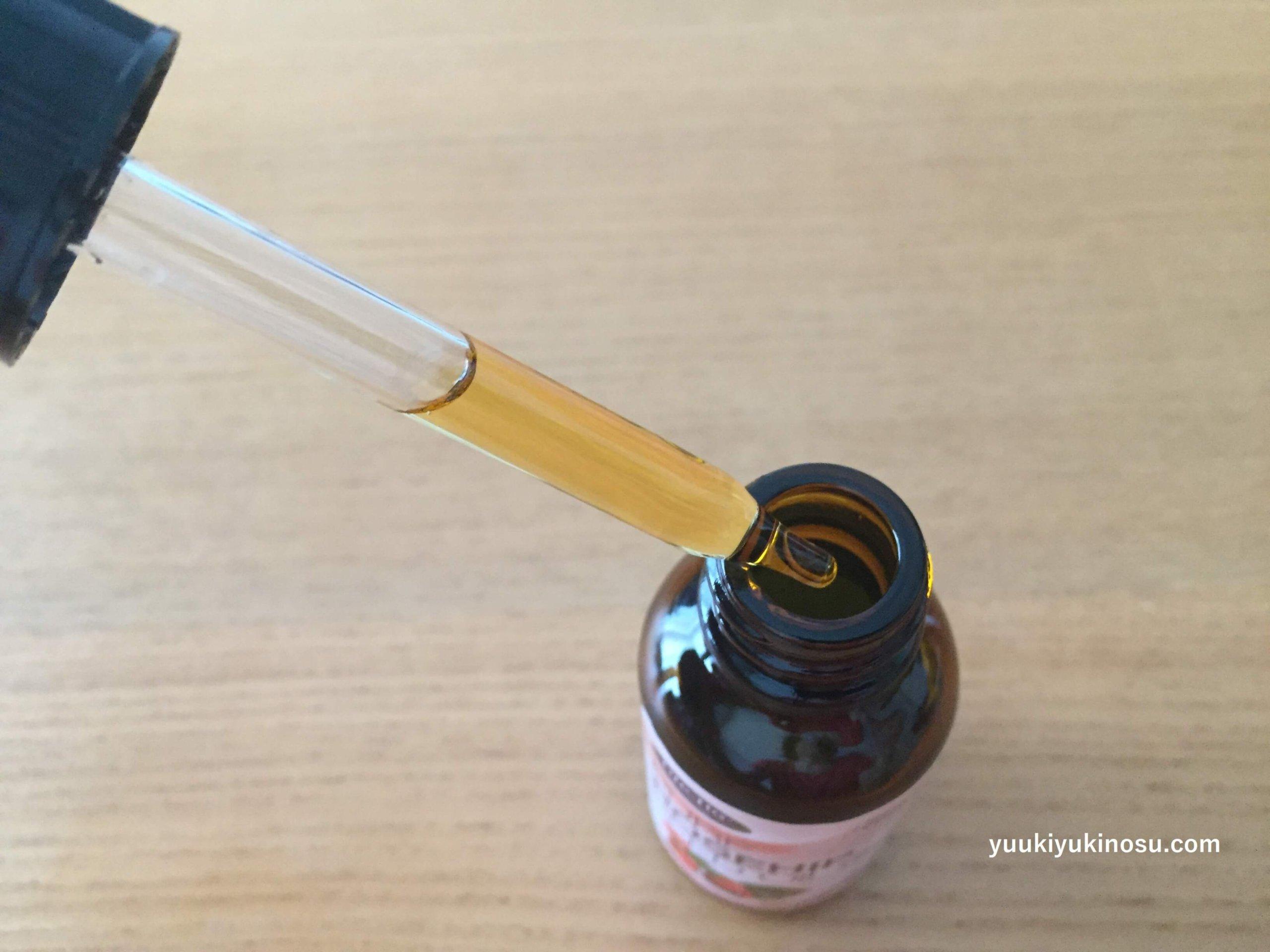 iHerb アイハーブ ローズヒップシードオイル 効果 使い方 ニキビ 酸化 毛穴 スキンケア 香り 光毒性