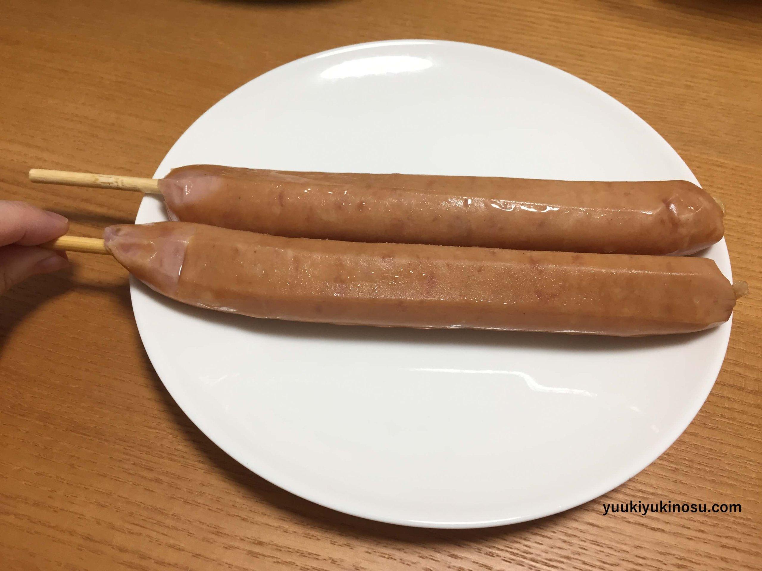 業務スーパー 冷凍 串付き フランクフルト 粗挽き串フランク 価格 食べ方 バーベキュー ホットプレート 大きさ ビッグ